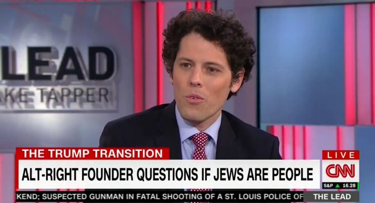 CNN's Chyron wonders if Jews are People, inspired by Trumpist Neofascism