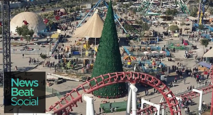 Wealthy Baghdad Muslim raised 85′ tall Christmas Tree in Solidarity