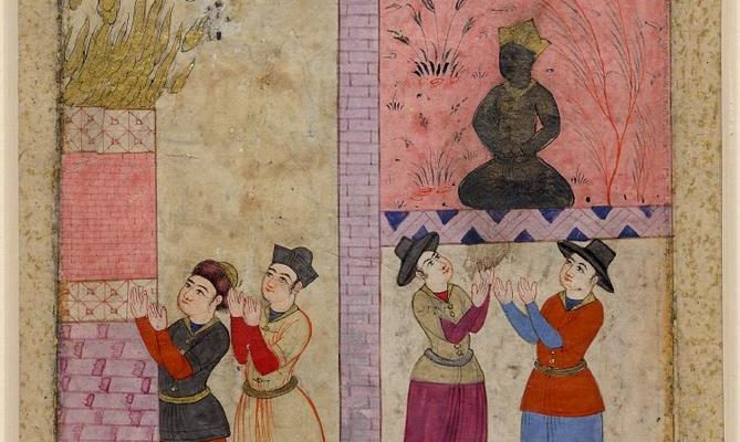Image of the Day:  European Buddhists (?) & Zoroastrians, c. 1650