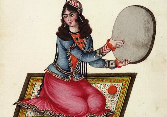 Picture of the Day:  Iranian Woman Tambourine Player, 1848