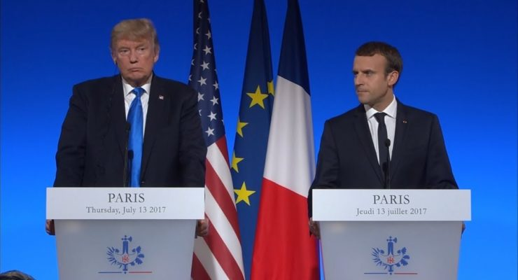 Trump & Macron Consult on Syria Cease Fire in Shadow of Don Jr. Scandal