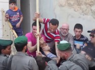Extremist Israeli Squatters literally kick Palestinians out of Home, Move In