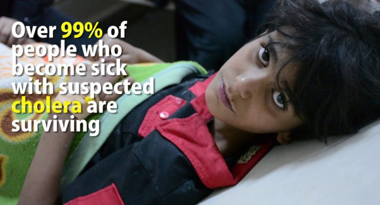 Under Saudi Bombs, Yemen hit by 500,000 Cholera Cases