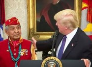 Trump meets Native Vets, uses 'Pocahantas' as Insult