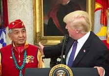 Trump meets Native Vets, uses 'Pocahantas' as Insult