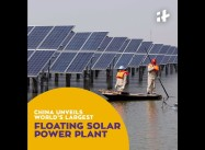 Leaving US in Dust, China starts $150 Million Floating Solar Plant Project