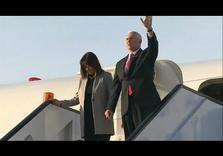 Pence starts Middle East tour in Egypt, pledges 'shoulder-to-shoulder' support