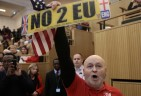 Trumpist UK Thugs waving US Flags try to Apprehend London's Muslim Mayor