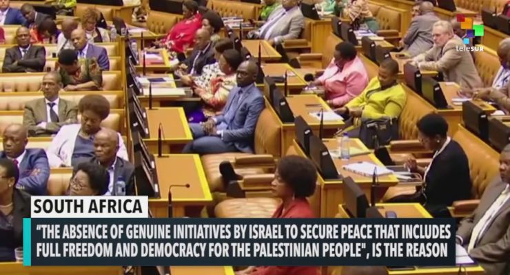 New South African Gov't to Cut ties with Israel over Apartheid toward Palestinians