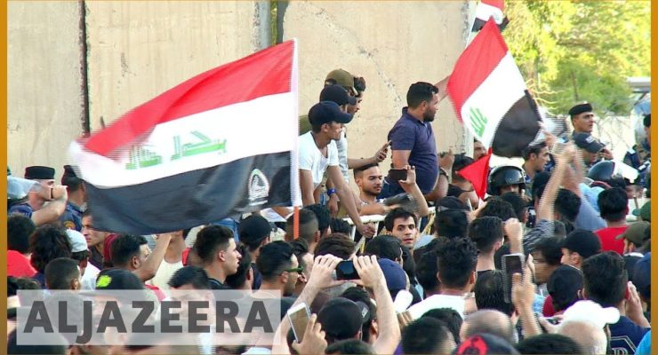 Massive South Iraq Protests move to Baghdad as Police use Water Canons; 1 Dead