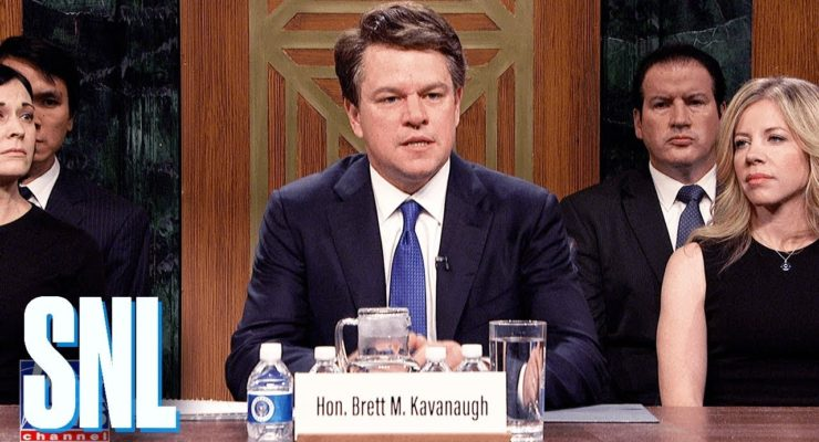SNL: Matt Damon Rakes Kavanaugh over Coals as Angry, Hysterical, Privileged Drunk