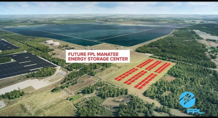 Florida PL's Huge Solar Battery will make as much Electricity as half a Nuclear Plant
