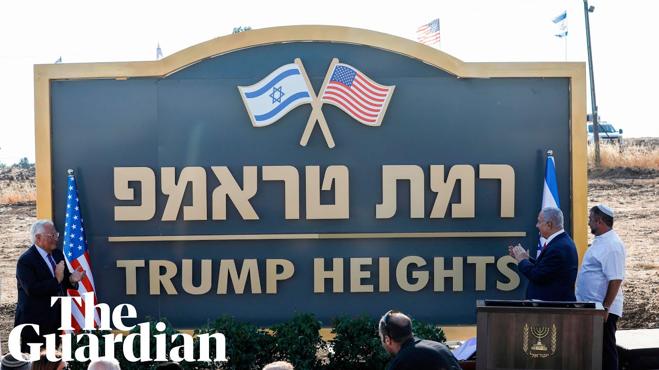 Trump Heights on Stolen Golan an Indictment of Colonial White Privilege