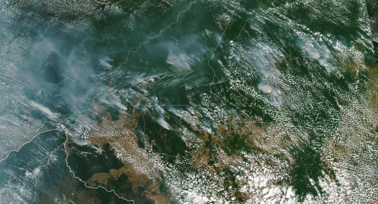 Climate Crisis: Panic as 74,000 Amazon Wildfires Plunge Sao Paulo into Darkness, Can be Seen from Space