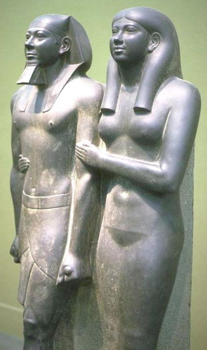 Menkaure and Queen, 2490-2472 BCE. Museum of Fine Arts, Boston