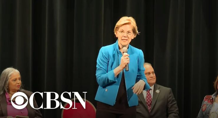 In the Democrats' bitter race to find a candidate to beat Trump, might Elizabeth Warren hold the key?
