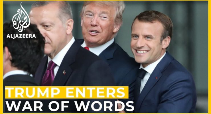 At NATO, Trump irrelevant as France's Macron Confronts Turkey on Invasion of Syrian Kurds