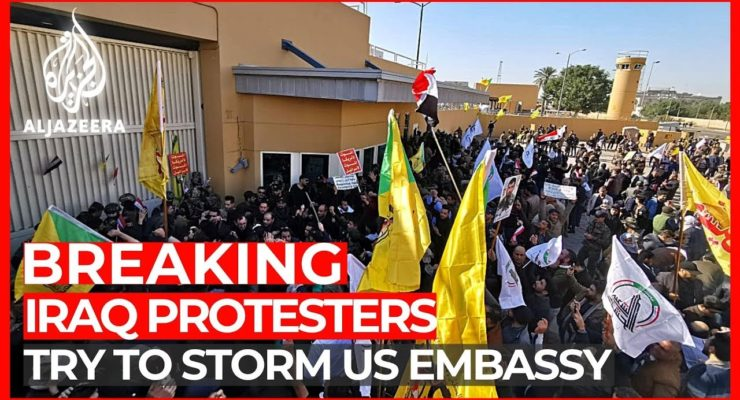 US Embassy in Baghdad Invaded after SecState Pompeo Slashed Security Funding, Took no Preventive Steps in wake of US Airstrikes
