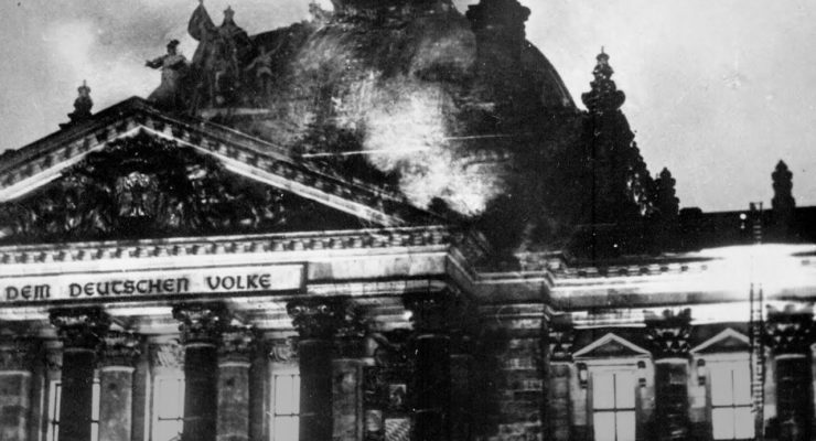 Does Trump see Covid-19 and Protests against Police Brutality as his Reichstag Moment?