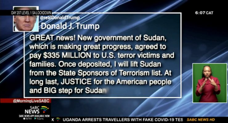 Did Trump blackmail Sudan into Recognizing Israel by offering to remove Khartoum from Terror List?